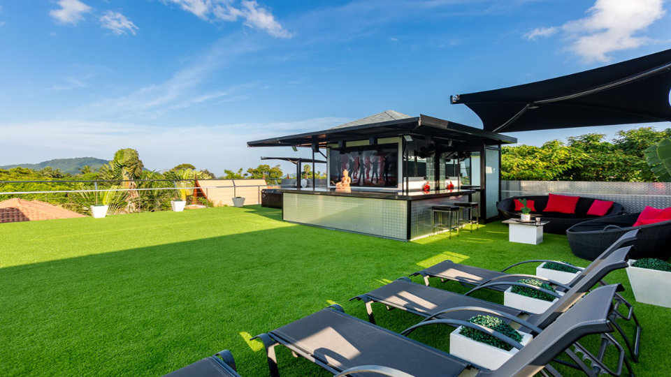 Rooftop Bar CloseUp - Villa Hotel Rawai Phuket - 7 beds 7.5 baths