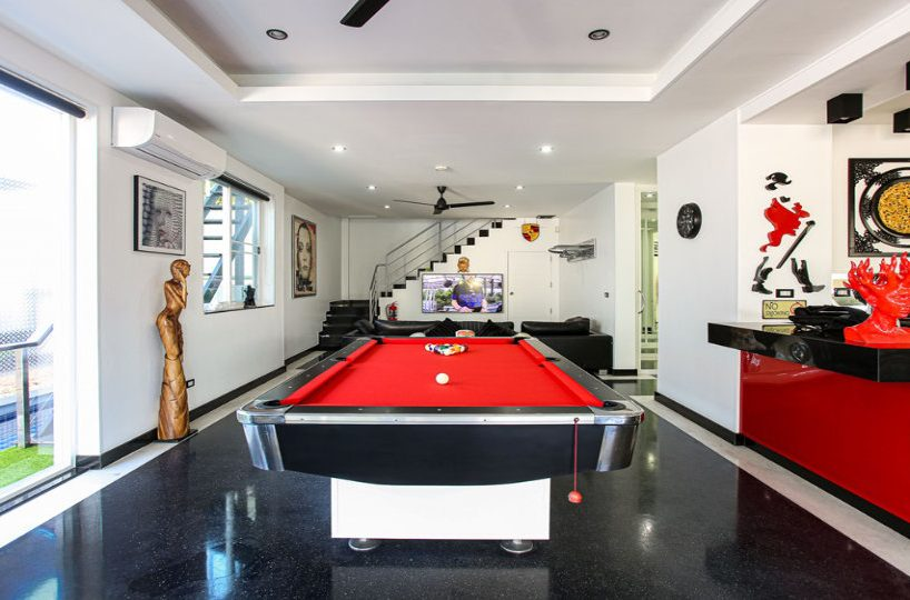 Pool Table CloseUp - Villa Hotel Rawai Phuket - 7 beds 7.5 baths