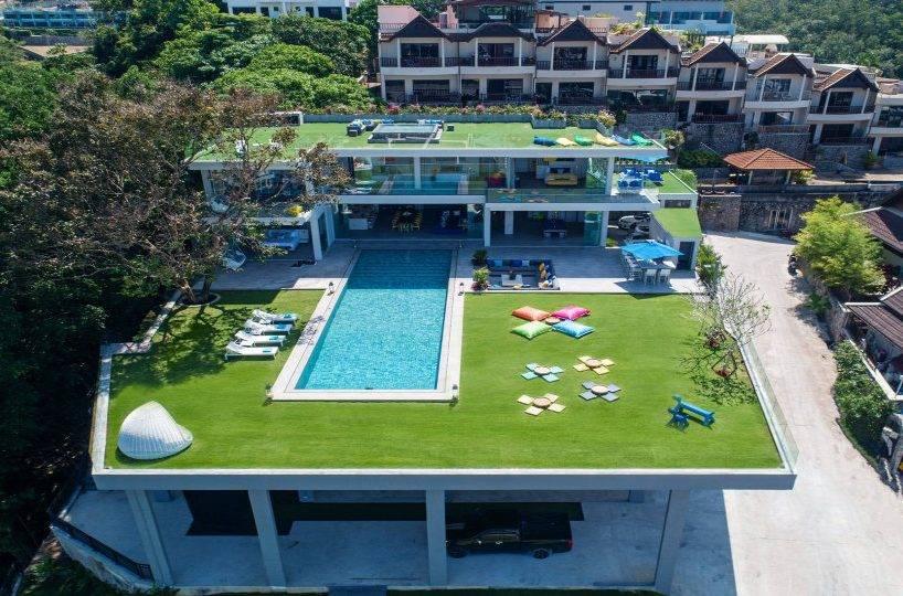 Aerial Front - Villa Enjoy Patong Beach Phuket