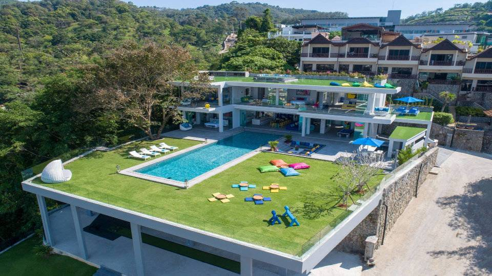Aerial Side - Villa Enjoy Patong Beach Phuket
