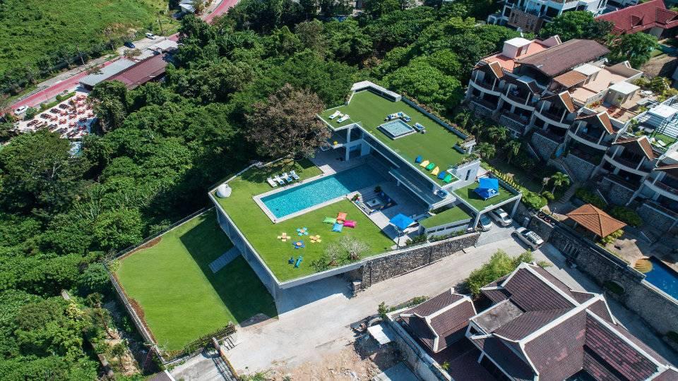 Aerial Side Top - Villa Enjoy Patong Beach Phuket