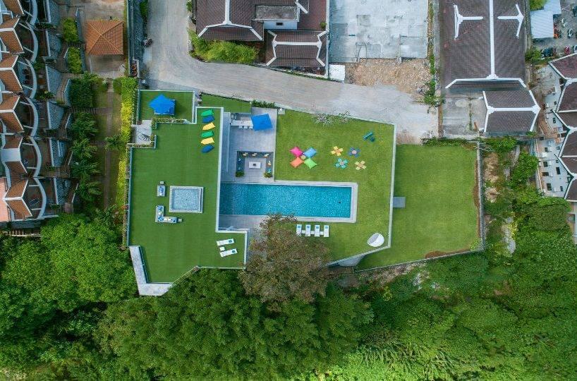 Aerial Top - Villa Enjoy Patong Beach Phuket