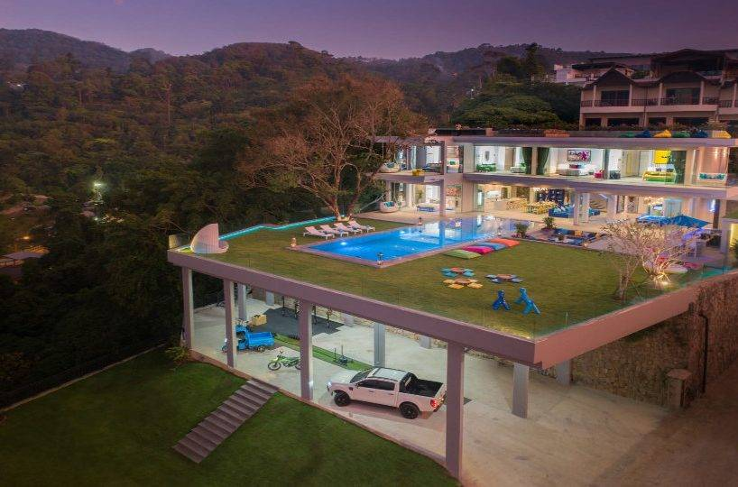 Aerial Front Parking - Villa Enjoy Patong Beach Phuket
