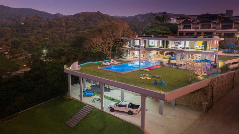 Aerial Front Parking - Villa Enjoy Patong Beach Phuket