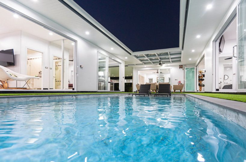 Pool Overview - One-Story Pool Villa Rawai 4 beds 4 baths