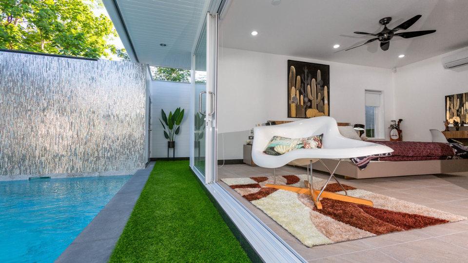 Pool Side Bedroom - One-Story Pool Villa Rawai 4 beds 4 baths