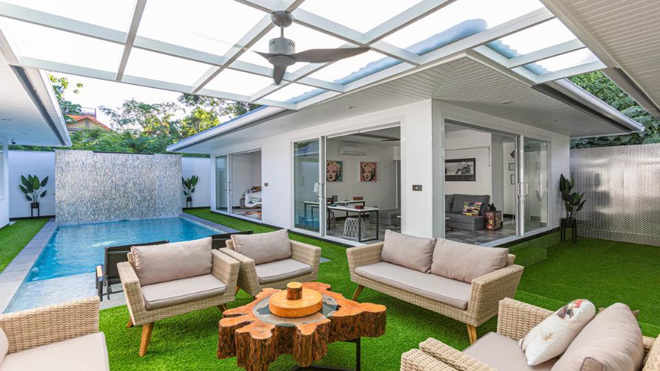 Outside Sitting Area - One-Story Pool Villa Rawai 4 beds 4 baths