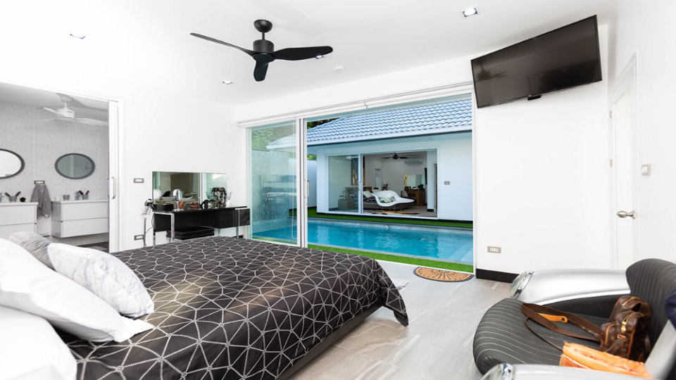 Bedroom 3 Front - One-Story Pool Villa Rawai 4 beds 4 baths