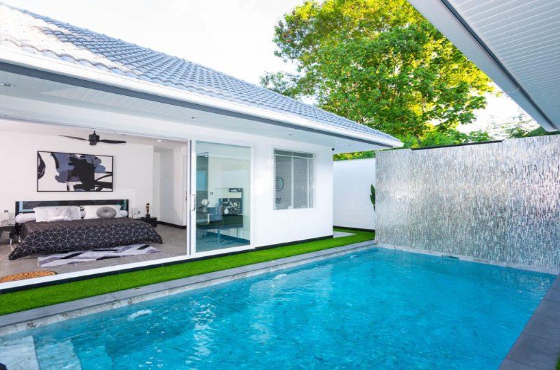 Pool View Bedroom - One-Story Pool Villa Rawai 4 beds 4 baths