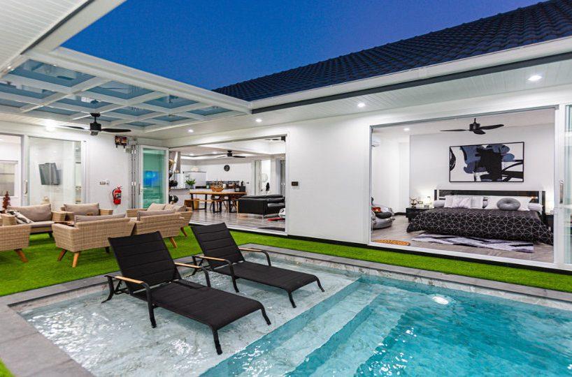 Sun Deck at Pool - One-Story Pool Villa Rawai 4 beds 4 baths