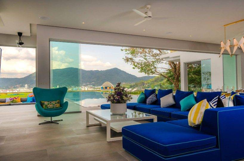 Living Room Side View - Villa Enjoy Patong Beach Phuket