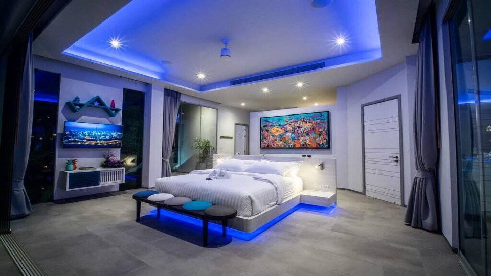 Bedroom by Night - Villa Enjoy Patong Beach Phuket