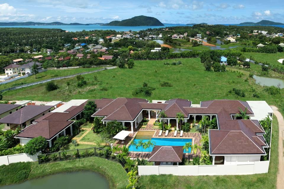 Aerial View - Villa NamChai Rawai