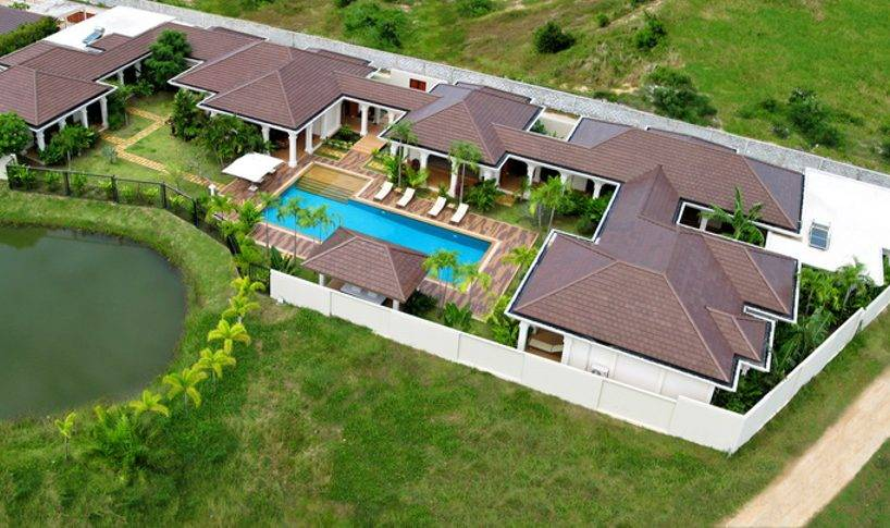 Aerial View Around the Villa - Villa NamChai Rawai