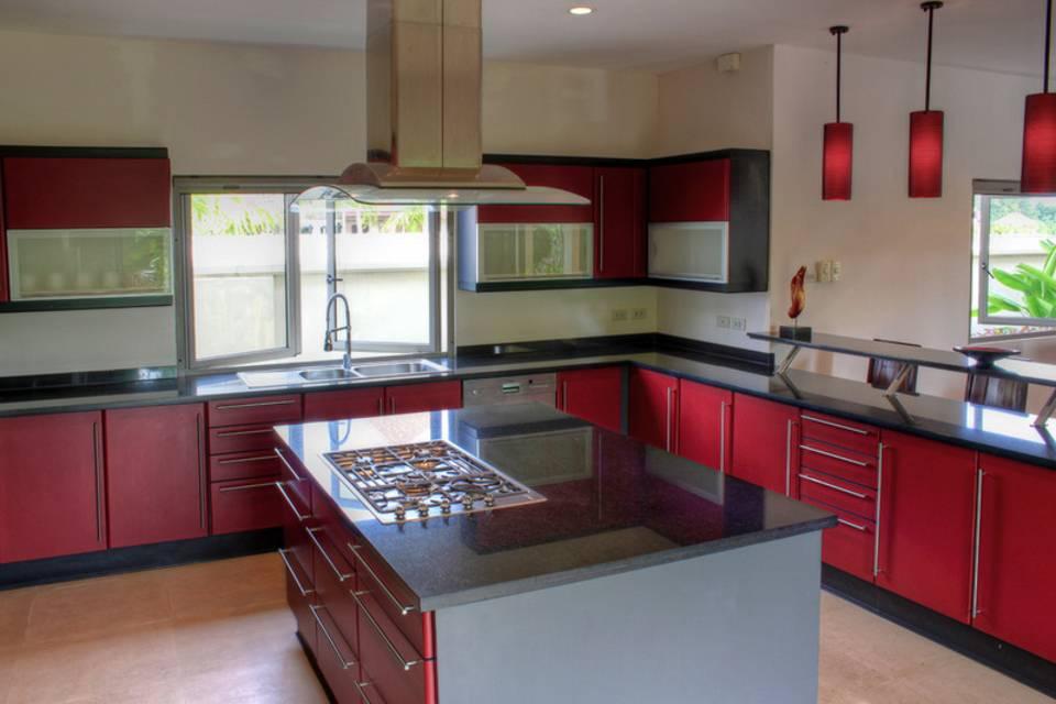 Kitchen Cooking Island - Villa NamChai Rawai